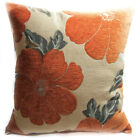 Wb06Aa Orange Daisy Flower Chenille Throw Cushion Cover/Pillow Case*Custom Size