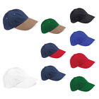 New BEECHFIELD Heavy Brushed Cotton Baseball Cap Hat in 9 Colours One Size