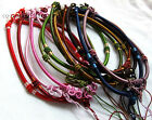 13 color 10pcs silk thread knot cord chain pendant necklace (adjustable)