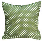 EC022 White Dot on Olive Upholstery Cushion Cover/Pillow Case *Custom Size