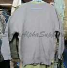 "SWISS ARMY SURPLUS ISSUE GRADE 2 WOOLY JUMPER BROWN/GREEN, 32"" UP TO 44""/PULLEY"