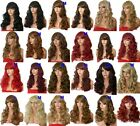 Cheap Curly Long Wig Synthetic Costume Women Pretty wig blonde Black Brown M