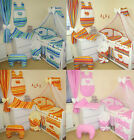 HUGE 17 PCS BABY BEDDING SET  HEARTS / 2 SIZES - FOR COTS AND COTBEDS