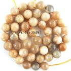 """natural Sunstone Round faceted Gemstone Beads 15"""" 6mm 8mm 10mm 12mm"""