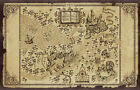 HARRY POTTER WIZARD WORLD MAP POSTER A4 A3 A2 or BIG A1 - LAMINATED OPTION!