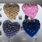 Anti Dust Mobile Phone Charm Iphone, Ipad, MP3 Stopper Heart Bling Choice of 4