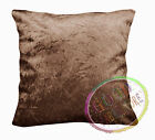 Mn124a Light Brown Crushed Velvet Style Cushion Cover/Pillow Case *Custom Size*
