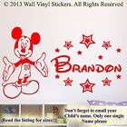 Mickey Mouse Wall Sticker Personalised Children'S Name Decal SMALL 2 LARGE  DR1