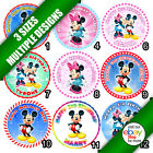 Mickey Minnie Mouse Icing Sheet Cake Round Circle Topper a
