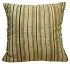 Wd27Ba Light Tan Damask Chenille Stripe Throw Cushion Cover/Pillow Case*Cus-Size