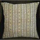 Wd31Ba Gold Tan Damask Chenille Stripes Throw Cushion Cover/Pillow Case *Size
