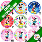 Mickey Minnie Mouse Edible  Image Picture Icing Sheet Cake Round Circle Topper b