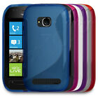 Premium S-Wave Gel Rubber Slim Case Cover Skin Fits Nokia Lumia 710 Mobile Phone