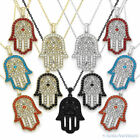Hamsa Hand of God Fatima Evil Eye Charm Pendant Jewish Judaica Kabbalah Necklace