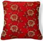 Bf017a Gold Peony Flower Red Rayon Brocade Cushion Cover/Pillow Case*Custom Size
