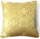 Bf026a Olive Gold Aster Peony Rayon Brocade Pillow/Cushion Cover Custom Size