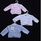 CUTE NEW BEBE BONITO BABY BOYS GIRLS CARDIGAN *WHITE PINK BLUE* 0/3 3/6 6/9 MTHS