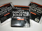 PAINTERS DECORATORS BOILER SUIT DISPOSABLE OVERALLS L M XL PROTECTIVE CLOTHING