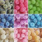 CHOOSE FROM 10 COLOURS,15mm ACRYLIC ROUND SPARKLY GLITZY BEADS,  CHOSE 5, 10