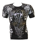 Konflic NWT Men's All-Over Tribal Graphic MMA Muscle T-shirt
