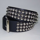 Funk Plus Gothic Industrial Goth Punk Cone Studded Black Genuine Leather Belt