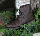 Mens Deerskin Walking Boots Crepe Soles Cushion Insoles 6-13 Brown Handmade USA