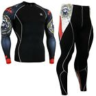 FIXGEAR CPD-SET-B5 Skin-tight Compression base layer shirt & pants Training MMA