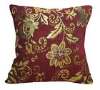 Wd33Ca Gold on Red Damask Chenille Daisy Throw Cushion Cover/Pillow Case *Size