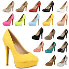 Glamour Damen Pumps High Heels 95439 Strassbrosche Party Schuhe 36-41 Trendy