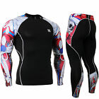 FIXGEAR CPD-SET-B19R Skin Compression Under Base layer shirt & pants MMA Gym