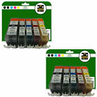 2 Full Sets of Compatible Printer Ink Cartridges for the Canon 525/6 Range