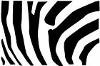 A Zebra Striped Pattern Silhouette Vinyl Wall Art Sticker Present Black & White