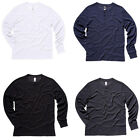 New BELLA CANVAS Mens Slim Long Sleeve Henley Button Jersey Top 4 Colours S-XXL