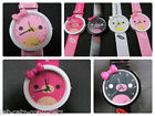 FASHION GIRLS LADIES CUTE ANIMAL KITTY & BOW WATCH 4 COLOURS PINK GIFT UKSELLER