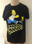 T-SHIRT MAGLIA MAGLIETTA ORGINALE HOMER CHE INSEGUE BART GRRRRRR THE SIMPSONS