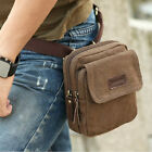 Men's Cotton Canvas Vintage Crossbody Messenger Shoulder Pouch  Fanny Waist Bag