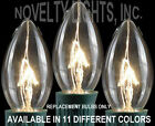 25 Pack C9 Outdoor Christmas Transparent Intermediate Base Replacement Bulbs -7W