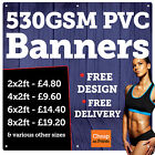 530GSM WATERPROOF BANNERS • STRONG PVC VINYL BANNERS • FULL COLOUR PVC BANNERS