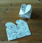 10 Wedding Die Cuts - Favour Box w/Floral Pattern -Wedding/Parties/Bridel Shower