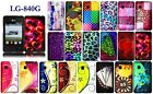 For LG 840G LG840G Rubberized Design Snap On Cover Case + LCD Screen Guard