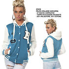 Felpa Giacca College da Donna Baseball Varsity Old School Jacket Moda Football