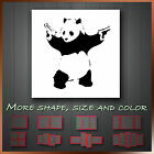 ' Banksy Panda & Gun ' Modern Contemporary Graffiti Art Deco Wall Canvas