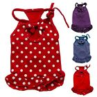 Polka Dots Cute Dog Dress Cotton Dress Skirt Pet Apparel Dog Clothes XS S M L XL