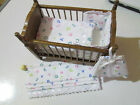 Dolls House Nursery Set - Blind & Matching Cot Set - 1/12th - White With Numbers