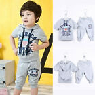 Children New Boys Kids Outfits Short Sleeve Hooded Shirt Pants Trousers Hot 1Gb