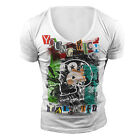 DEEP V NECK RICH TSHIRT T SHIRT TOP NEW WHITE TOWIE GEORDIE SHORE MUSCLE VEST