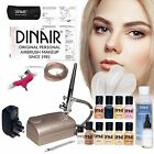 Dinair Personal Pro Airbrush makeup Kit. Full system inc stencil, gun, cleaner +