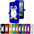 PENGUIN SILICONE SKIN CASE COVER & FREE SCREEN PROTECTOR FITS APPLE IPHONE 5
