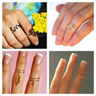 Single Gold Silver Love Heart Cross Charm Knuckle Midi Wire Rings Sabo Skirt