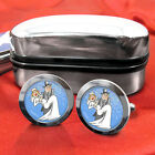 Just Married (wedding, marriage, bridegroom) Cufflinks Mens Gift